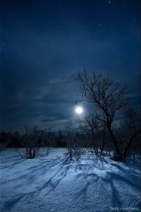 Moon snow walk