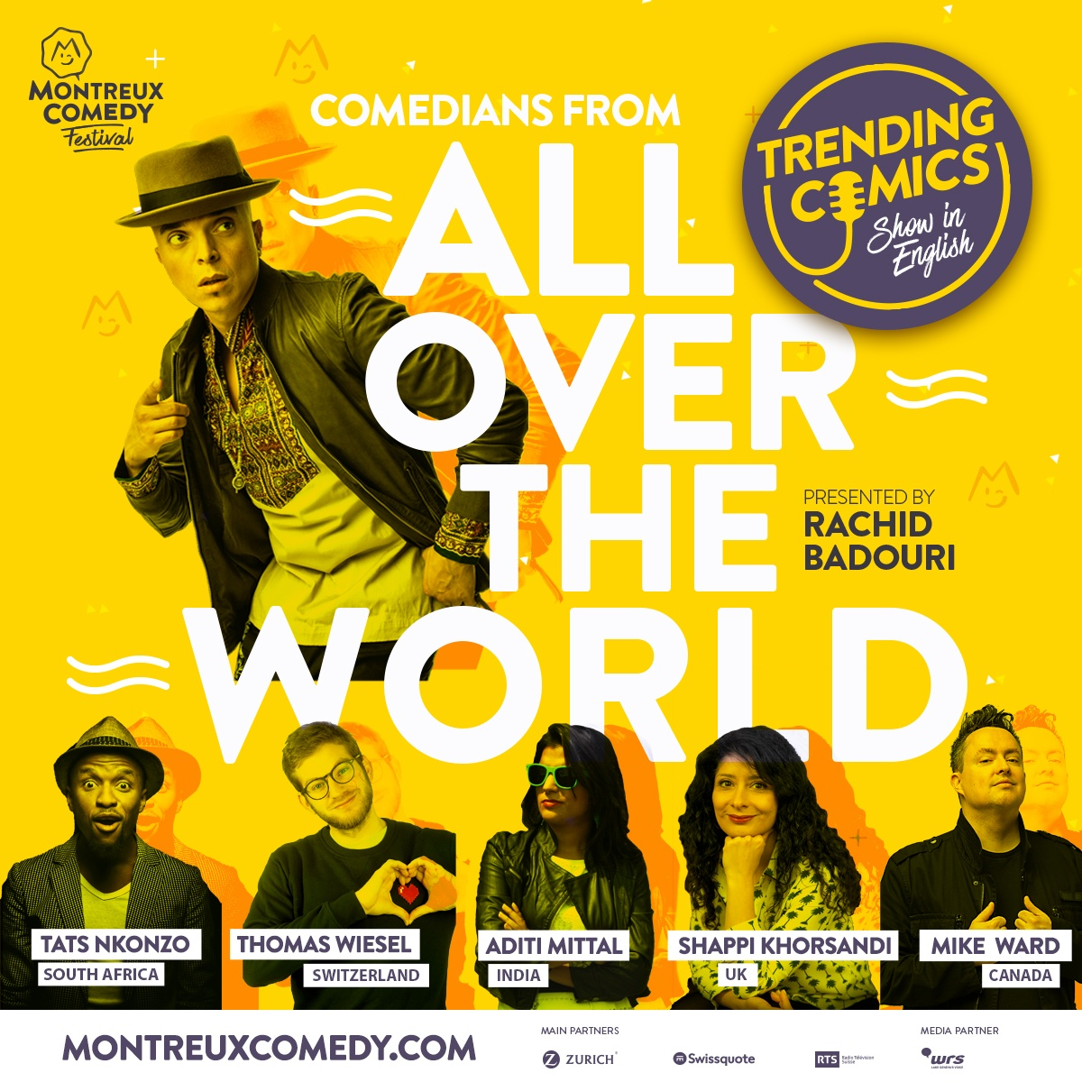 Trending Comics Gala at the Montreux Comedy Festival