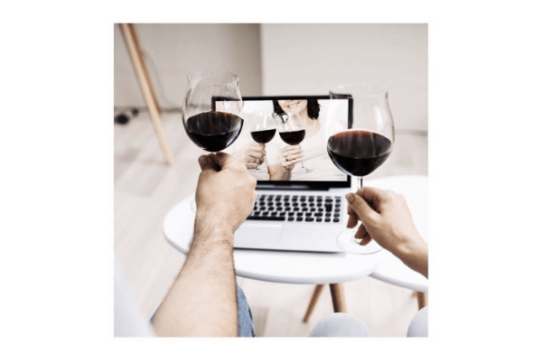Virtual wine event